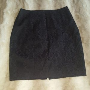 Mossimo jacquard pencil skirt size 14